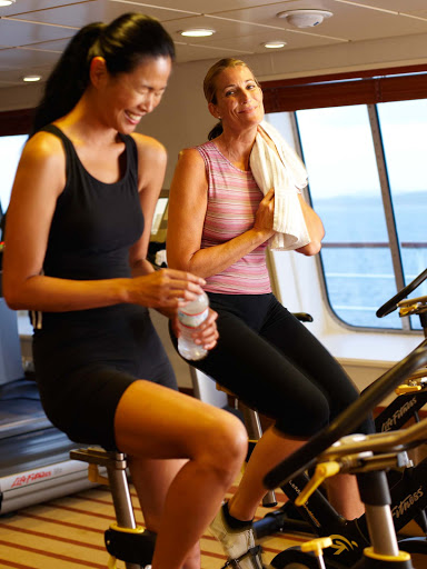 Spa-Fitness-Tour-de-Cycle-Indoor-Cycling-Class-on-Crystal-Symphony - Take the Tour de Cycle indoor cycling class on Crystal Symphony and feel your blood pumping as you get energized for your day.