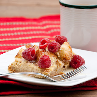 Raspberry White Chocolate Overnight French Toast with Raspberry White Chocolate Syrup Recipe