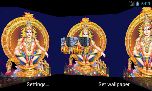 Lord Ayyappan 3D LiveWallpaper