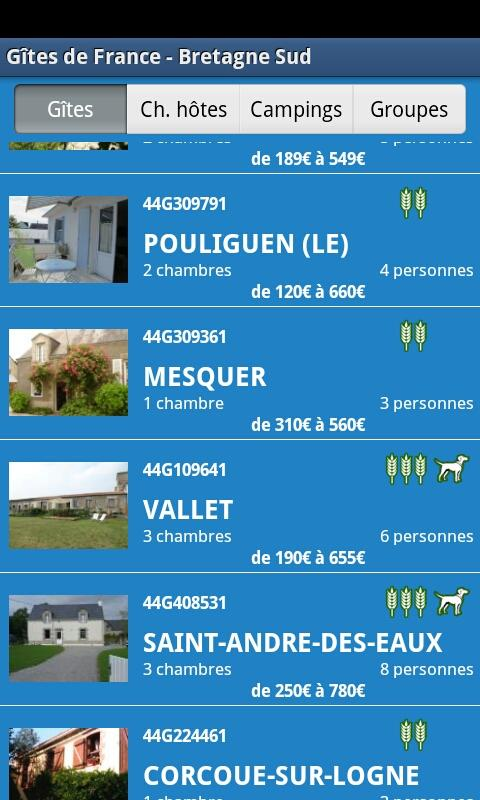 Gîtes de France - Bretagne Sud - screenshot