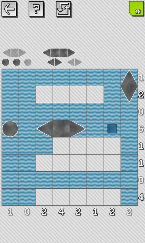 Battleship Solitaire Puzzles - screenshot