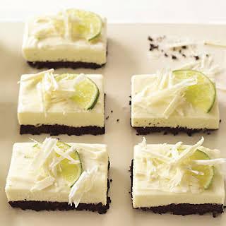 White Chocolate and Lime Cheesecake Bars.