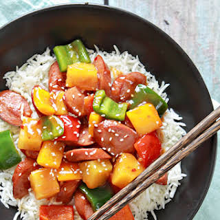 Sweet and Sour Sausage.
