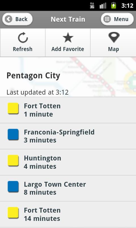 DC Metro and Bus - screenshot