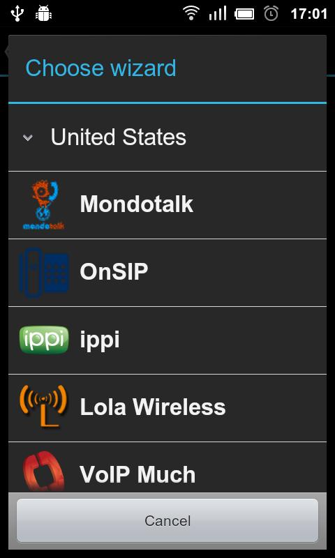 VoIP/SIP Dialer- screenshot