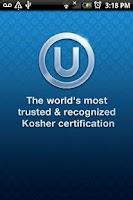 Screenshot of OU Kosher