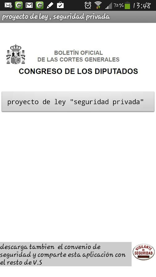 LEY de vigilantes de seguridad - screenshot