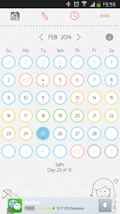 LoveCycles Menstrual Calendar - screenshot thumbnail