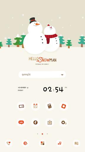 Snowman DodolLauncherTheme