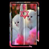 Cute Kitty Zipper Screen Lock