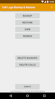 Screenshot of Call Logs Backup & Restore