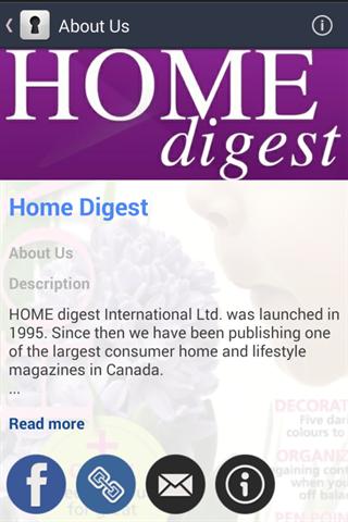 Home Digest Screenshot