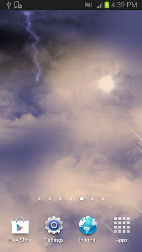 Thunder clouds Live Wallpaper