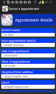 Doctor Appointment Lite - screenshot thumbnail