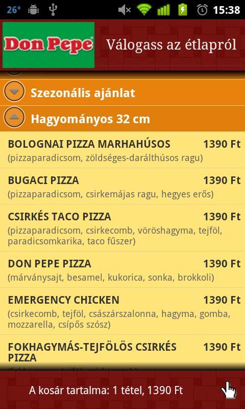 Pizza.hu - Food Ordering App- screenshot