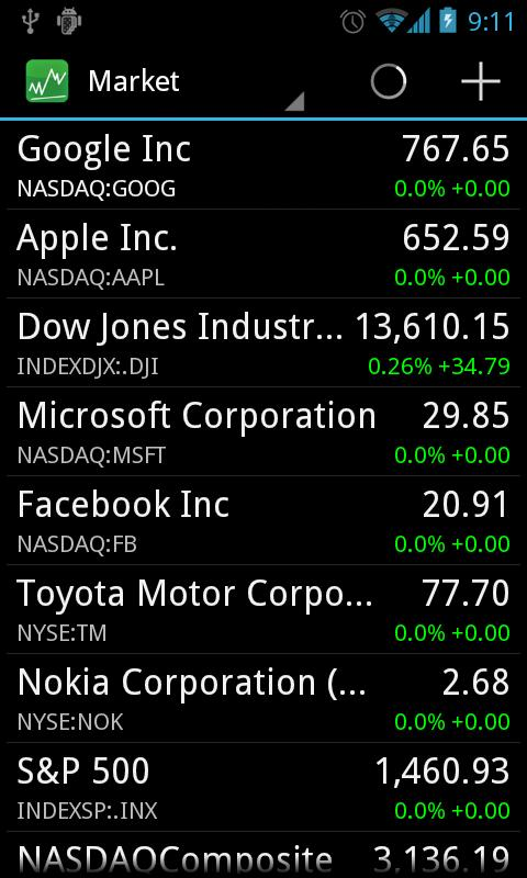 Stocks - Realtime Stock Quotes - screenshot