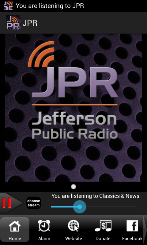Jefferson Public Radio - screenshot