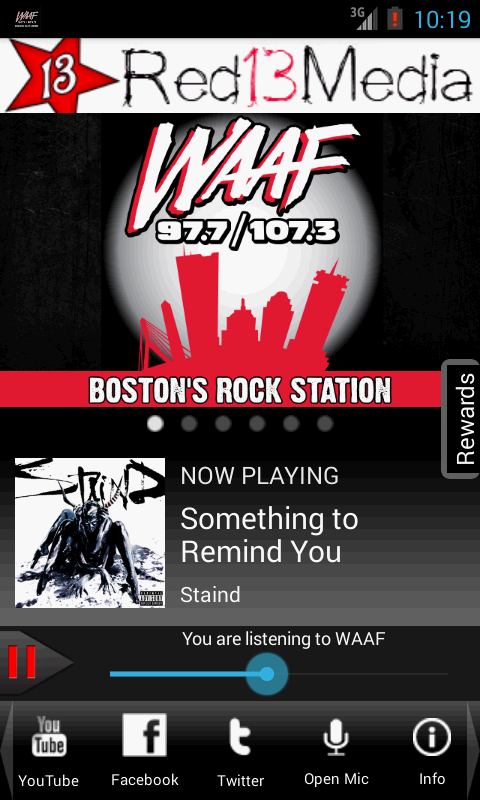 WAAF - Boston's Rock Station - screenshot