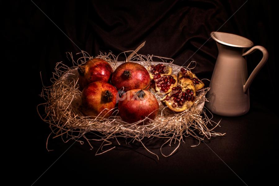 Granadas by Eduardo Latorre - Food & Drink Fruits & Vegetables ( bodegón, fruit, granadas, still life, fruta, fook, comida,  )