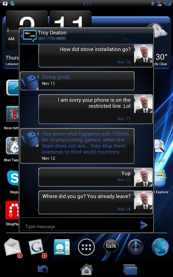 Tablet Talk - DarkHorse(Blue) - screenshot