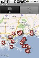 Screenshot of Oil Spill Tracker