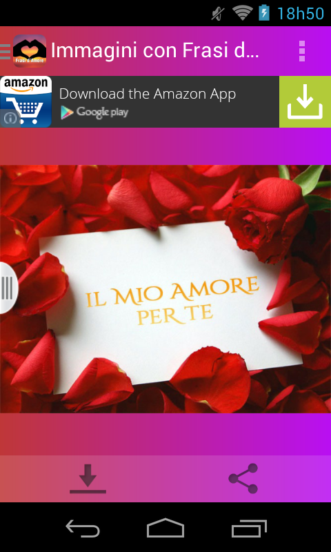 Famoso Immagini con Frasi d'Amore - Android Apps on Google Play UW66