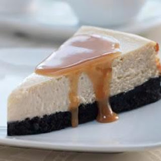Brown Sugar Cheesecake with Bourbon Sauce.