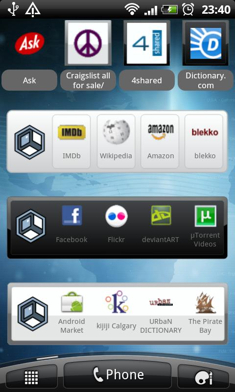 Askeroid Mobile Search Widget - screenshot