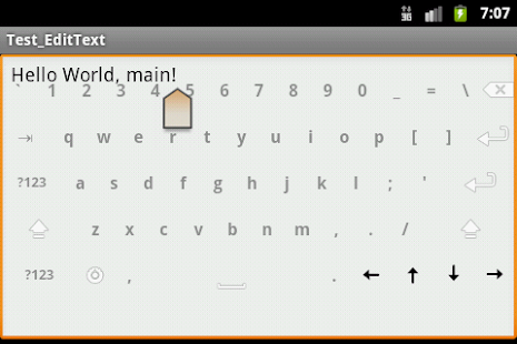 Transparent Keyboard - screenshot thumbnail