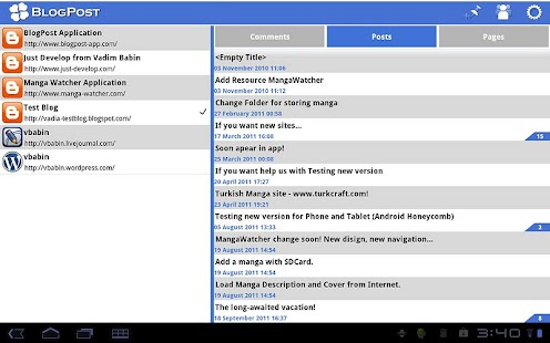 BlogPost (Blogger Client)- screenshot thumbnail