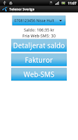 Screenshot of Telenor Sverige