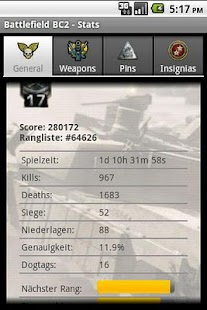 Battlefield Bad Company2 Stats - screenshot thumbnail