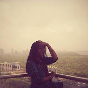 welcoming monsoon by Nilpink Chavan - People Portraits of Women