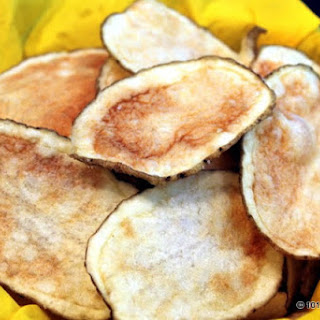 Healthy Microwave Potato Chips.