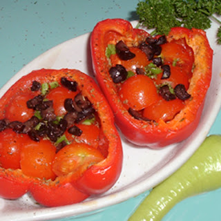 Provencal Tomato Stuffed Peppers recipe – 91 calories.