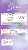 Screenshot of GRACE THEME GO WEATHER EX