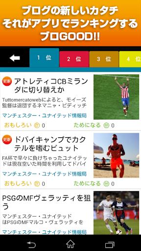 ブログランキング サッカー「ブロGOOD」