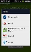 Screenshot of Custom Ringtone