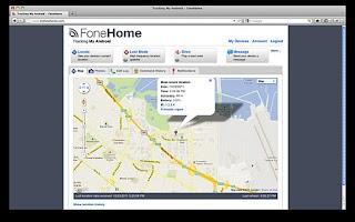Screenshot of FoneHome