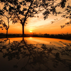 Reflection Of Sunrise by Stephen Ckk - Landscapes Sunsets & Sunrises