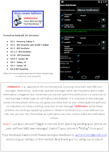 Voice Mail SMS Text Notifier