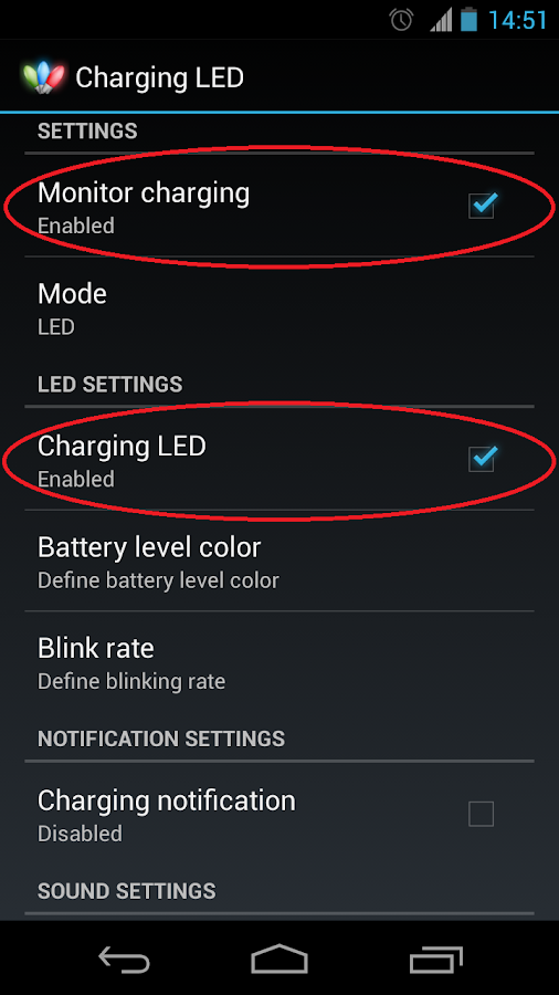 Charging LED - screenshot