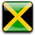 Jamaica Flag Clock Widget