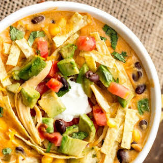 Slow Cooker Chicken Fajita Soup.