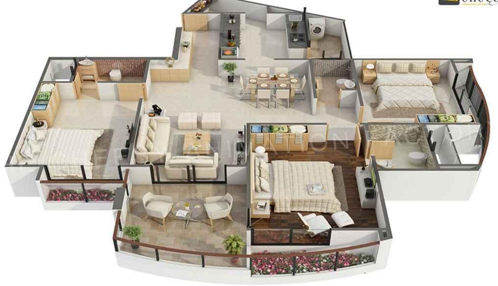 Traumhaus grundriss 3d  Chestha.com | Grundriss Idee Schlafzimmer
