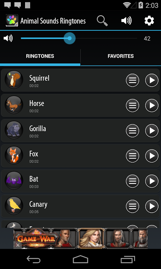 Animal Sounds Ringtones - screenshot