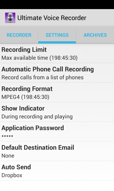 Ultimate Voice Recorder - screenshot