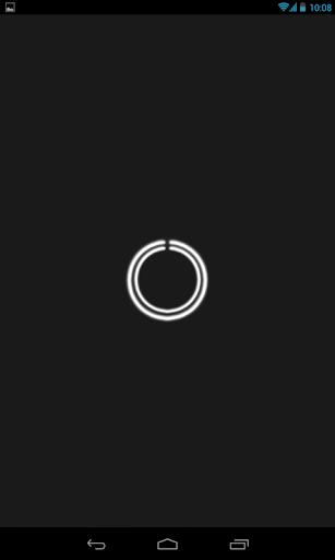 White C-Circle Neon Clock