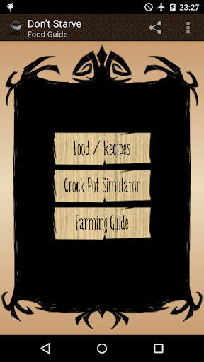 Food Guide for Don't Starve
