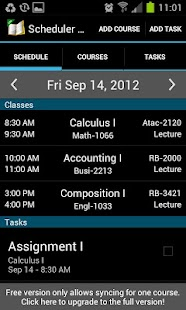 School Scheduler - Lite- screenshot thumbnail